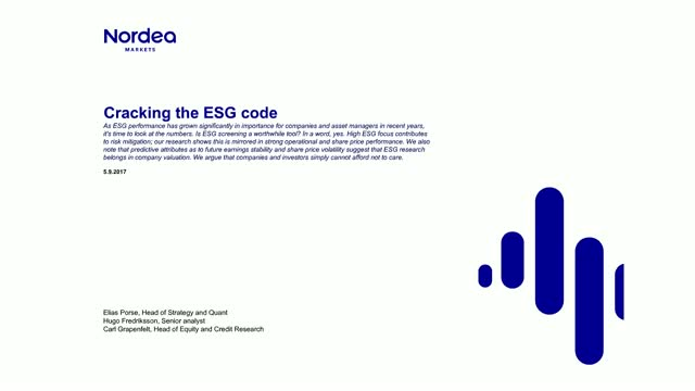 Cracking the ESG Code: Doing the Math from an Investors Perspective
