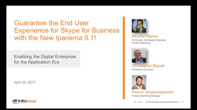 Guarantee the End User Experience for Skype for Business
