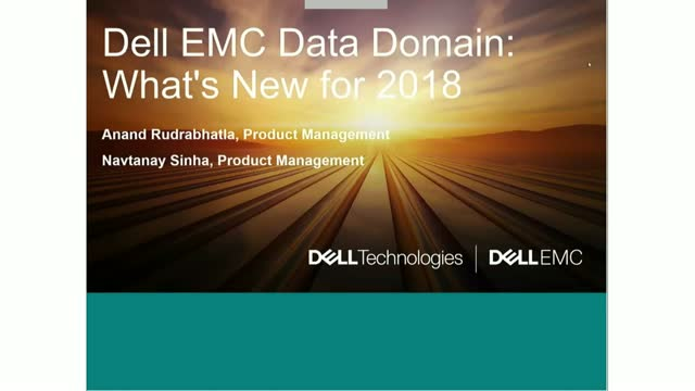 Dell EMC Data Domain:  What's New for 2018