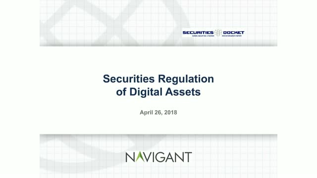 Securities Regulation of Digital Assets