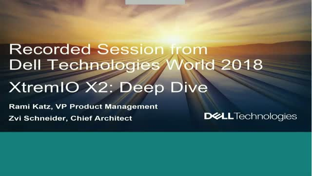 XtremIO X2: An Architectural Deep Dive