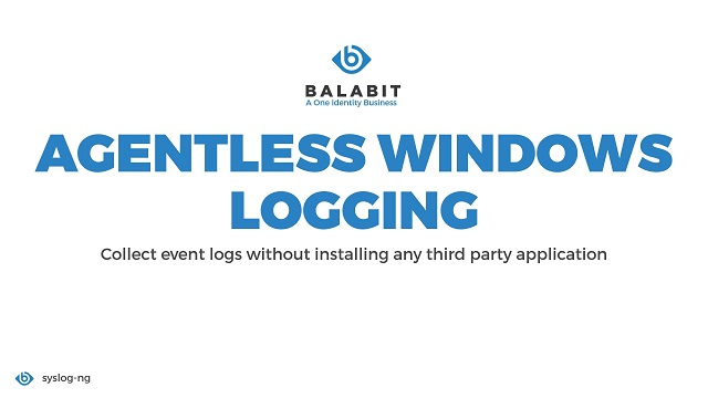 Agentless Windows logging