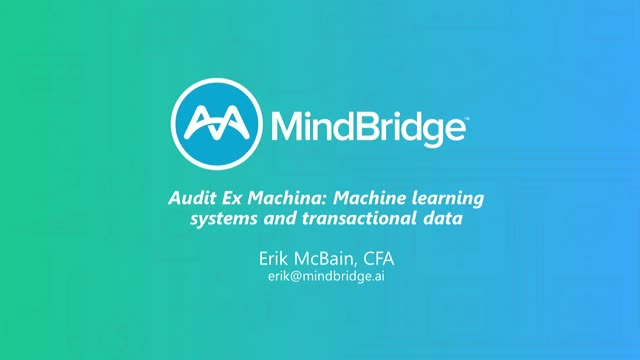 Audit Ex Machina: Digital Learning Systems and Transactional Data