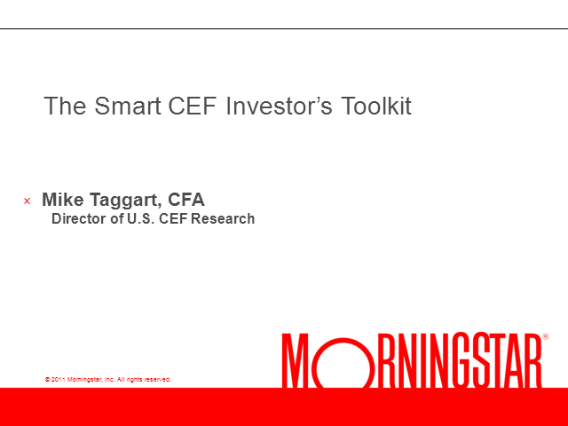 Tools for the Smart CEF Investor