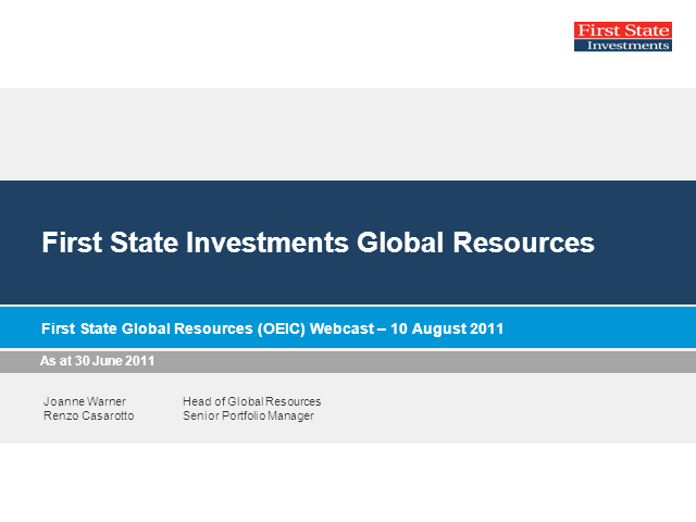First State Global Resources Fund