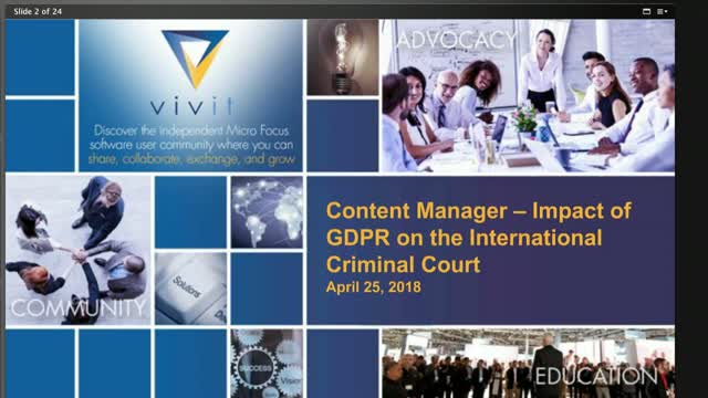 Content Manager - Impact of GDPR on the International Criminal Court