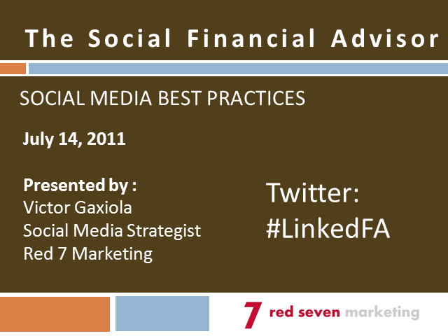 The Social Financial Advisor: Social Media Best Practices