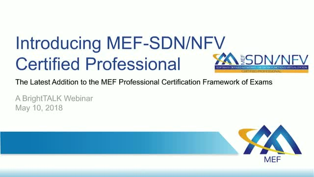 An Introduction to MEF's SDN/NFV Professional Certification