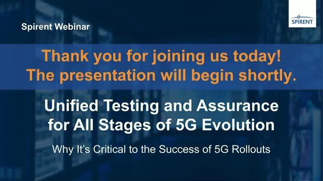 Unified Testing and Assurance for All Stages of 5G Evolution: Why It's Critical