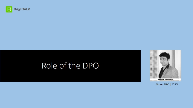The Role of the DPO