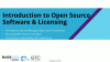 Introduction to Open Source Software and Licensing