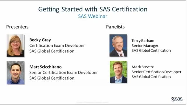 Getting Started with SAS Certification