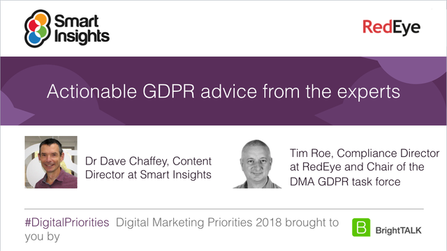 Actionable GDPR advice from the experts