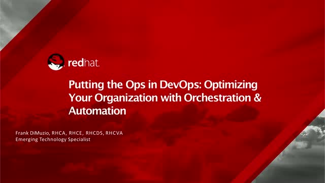 Putting the Ops in DevOps: Optimizing an agency with orchestration & automation