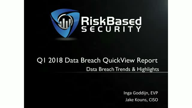 The Data Breach Landscape - Trends and Highlights From Q1 2018