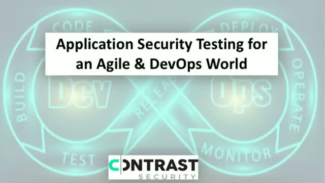Application Security Testing for an Agile & DevOps World