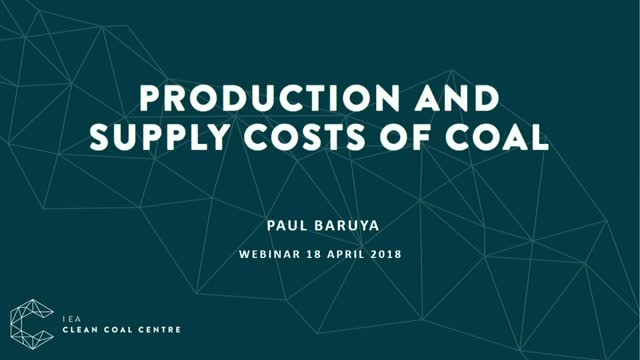 Production and supply chain costs of coal