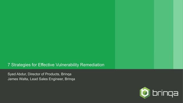 7 Strategies for Effective Vulnerability Remediation