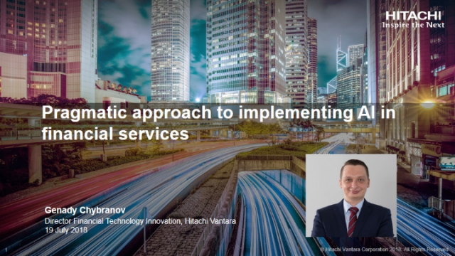 Pragmatic approach to implementing AI for Financial Services