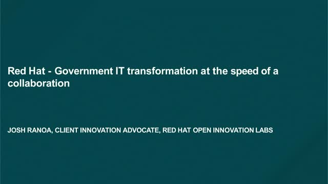 Government IT transformation at the speed of a collaborative engagement