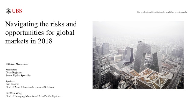 Navigating the risks and opportunities for global markets in 2018