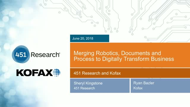 Merging Robotics, Documents and Process to Digitally Transform Business