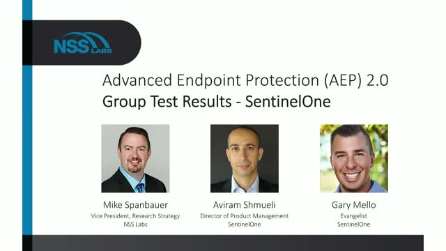 Advanced Endpoint Protection (AEP) 2.0 Group Test Results - SentinelOne