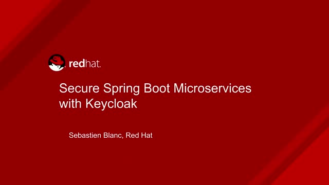 Live Coding: Secure Spring Boot Microservices with Keycloak