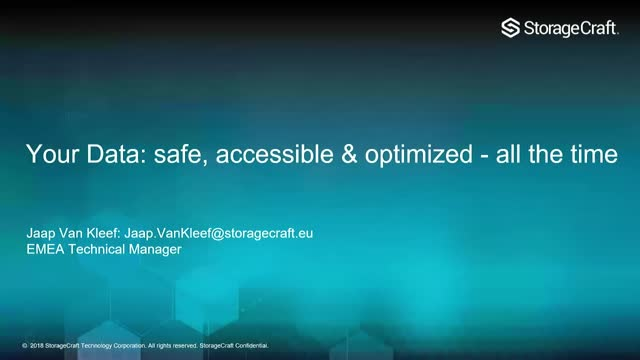 Your Data: Safe, Accessible, and Optimized - All the Time