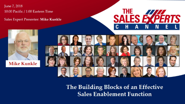 The Building Blocks of an Effective Sales Enablement Function