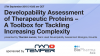 Developability Assessment of Therapeutic Proteins – A Toolbox for Tackling Incre