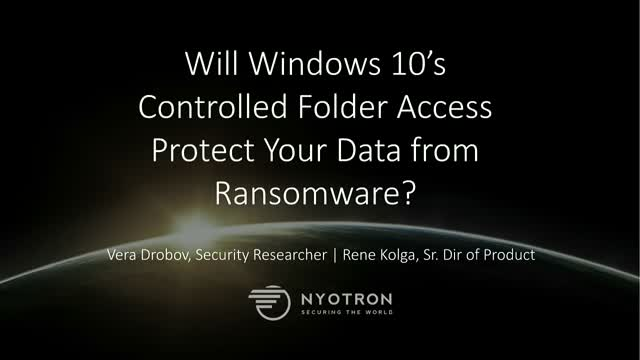 Will Windows 10's Controlled Folder Access Protect Your Data from Ransomware?