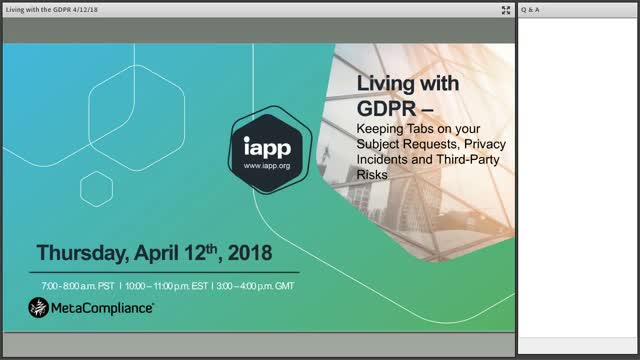 Living with the GDPR