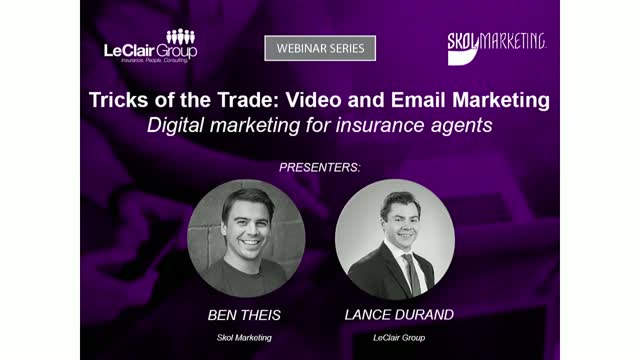 Tricks of the Trade:  Video and Email Marketing