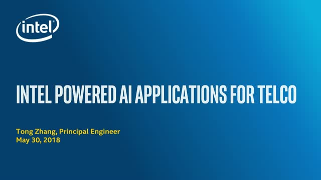Intel® Powered AI Applications for Telco