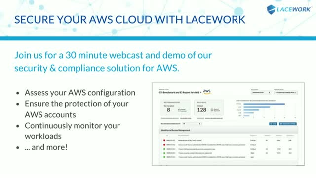 Secure Your AWS Cloud With Lacework