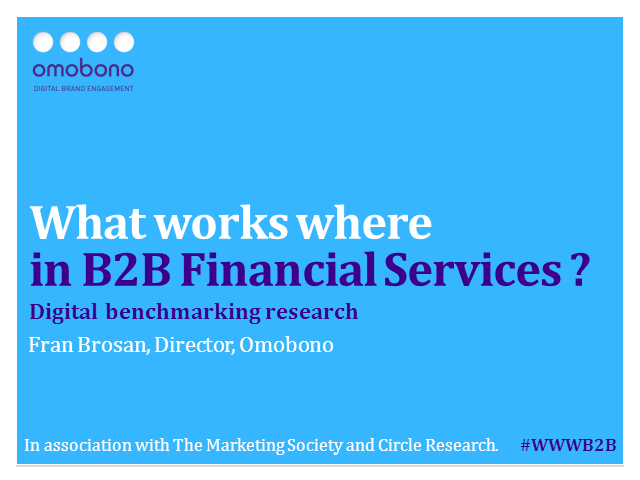 What Works Where in B2B Digital Marketing for Financial Services