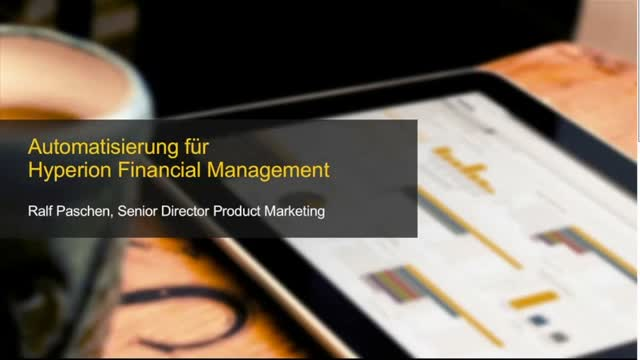 Webcast: Automatisierung für Hyperion Financial Management