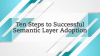 Ten Steps to a Successful Semantic Layer Adoption