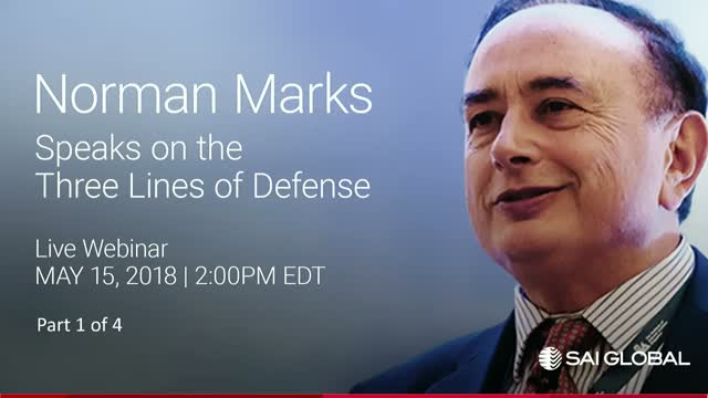 Norman Marks on the Three Lines of Defense