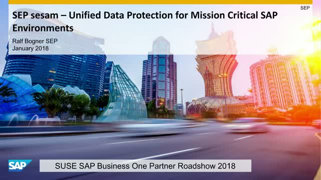 Complete data protection for the SAP HANA environment