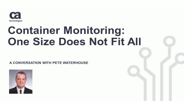 In a World of Containers, One Size Monitoring Does Not Fit All