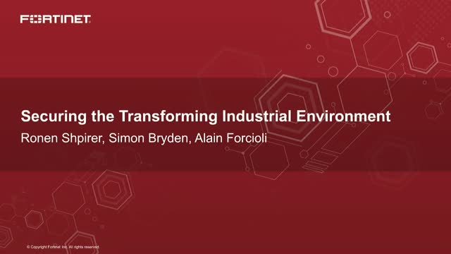 Securing the Transforming Industrial Environment