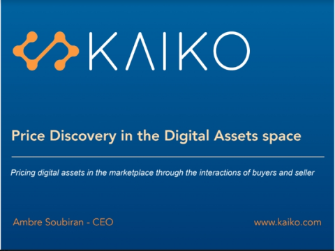 Price Discovery in the Digital Assets space