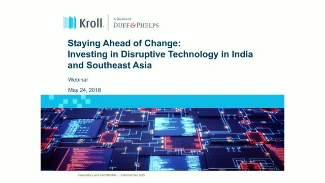 Investing in Disruptive Technology in Southeast Asia and India