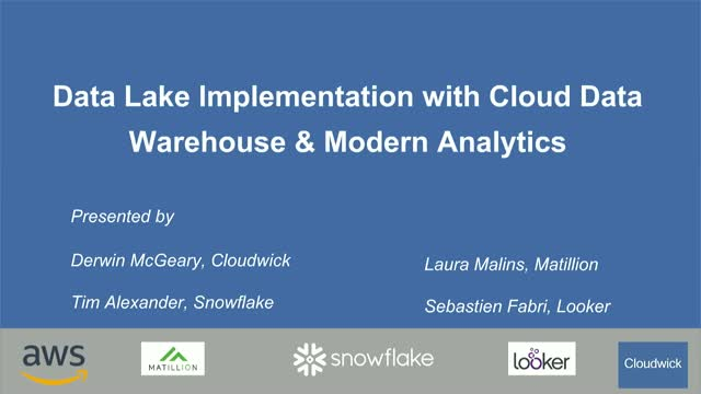 Data Lake Implementation with Cloud Data Warehouse & Modern Analytics