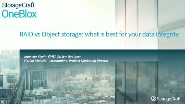 RAID vs Object storage: what is best for your data integrity?
