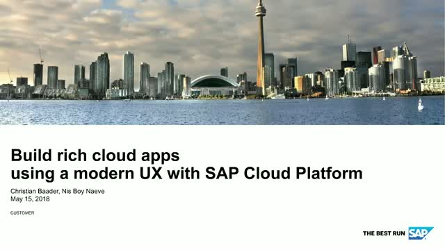 Build rich cloud apps using a modern UX with SAP Cloud Platform