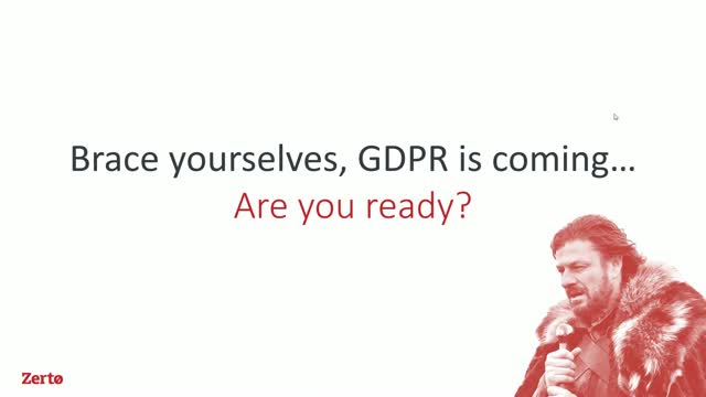 GDPR is coming....are you ready?