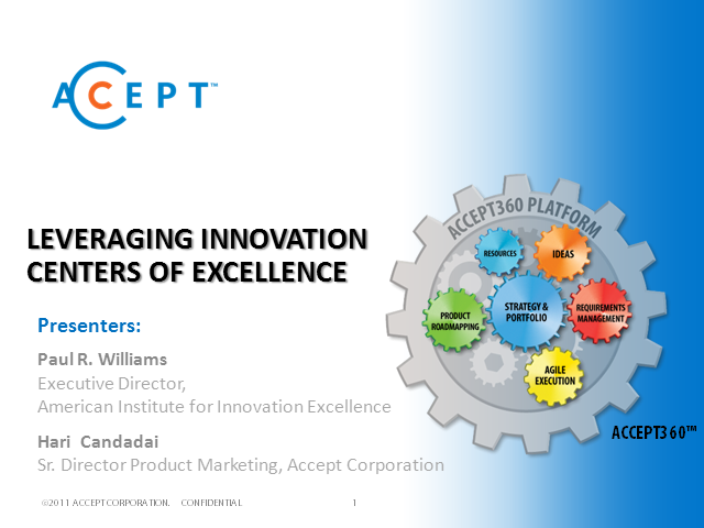 Leveraging Innovation Centers of Excellence